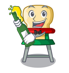 with beer baby highchair isolated on the mascot vector image