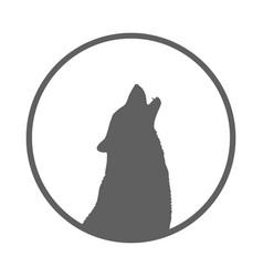 wolf symbol vector image