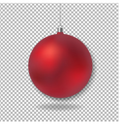 xmas glass ball vector image