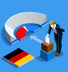germany election german people vote and isometric vector image