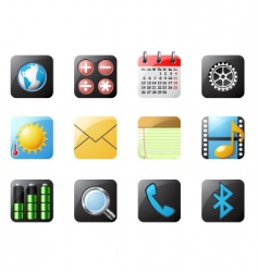 mobile phone buttons vector image vector image