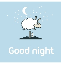Sheep jumping over the fence vector image vector image