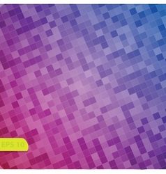 abstract square pixel mosaic background vector image vector image