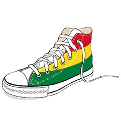 hand draw modern sport shoes with Bolivia flag vector image vector image