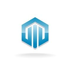 Hex industrial logo vector