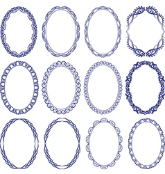 Oval borders vector