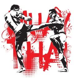 Thai boxing vector
