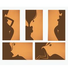 beauty salon and solarium cards vector image