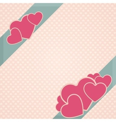 Card Heart Three vector image vector image