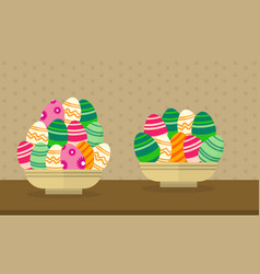 collection easter theme with egg vector image vector image