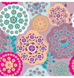 Floral patterns background vector