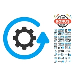 Gearwheel Rotation Direction Icon With 2017 Year vector image