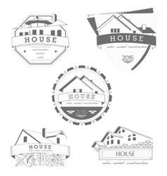 House logo gray template Realty theme icon vector image