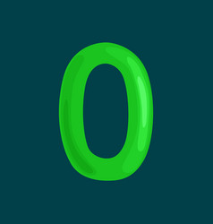 ordinal numbers 0 for teaching children counting vector image