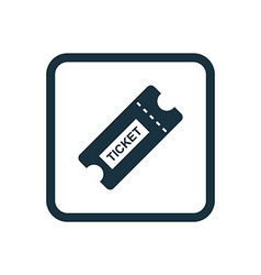 ticket icon Rounded squares button vector image
