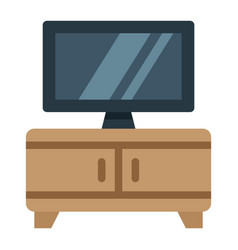 tv bench flat icon furniture and interior vector image vector image