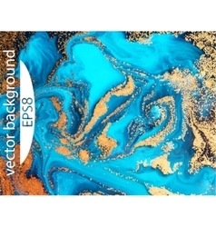 Blue marbling texture Creative background with vector image vector image