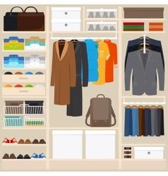Clothes wardrobe vector image