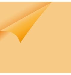 Curled orange paper corner - sticky note vector