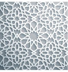 islamic ornament persian motiff white vector image