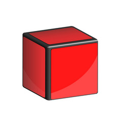3d cube vector image