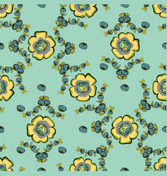 Abstract berries floral seamless pattern vector