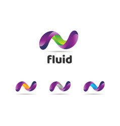 abstract colorful fluids logo sign symbol icon vector image