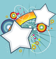 Abstract star funky background vector