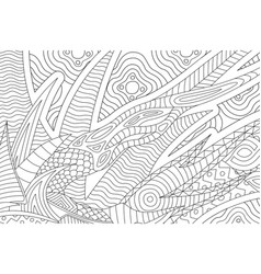 Beautiful coloring book page with abstract pattern vector