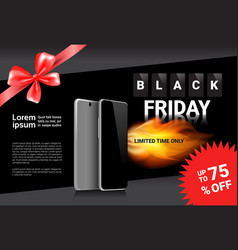 black friday sale template banner discounts on vector image