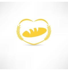 Bread symbol icon vector