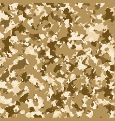 brown military camouflage background texture vector image