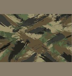 brush stroke seamless camouflage print vector image