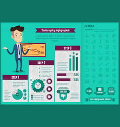 Business bankruptcy infographic template vector