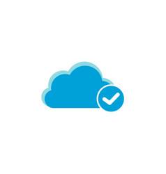 cloud computing icon check icon vector image