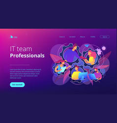 Dedicated team it concept vector