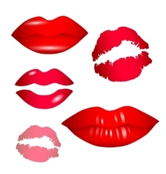Female lips collection vector image