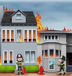Fire scene vector image