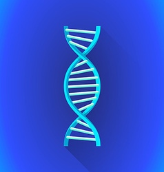 flat DNA helix symbol icon vector image