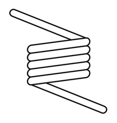 Flexible spring cable icon outline style vector