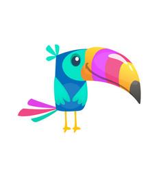 Funny toucan cartoon bird vector