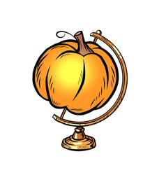 globe international pumpkin autumn harvest vector image