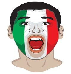Go Italy vector image