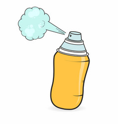graffiti spray can in cartoon style isolated vector image