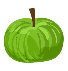 green eco apple icon cartoon style vector image