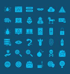 Hacker solid web icons vector