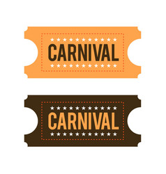 Happy brazilian carnival day carnival show tickets vector