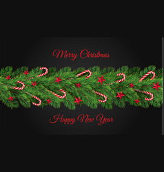 Happy new year tree branch concept background vector