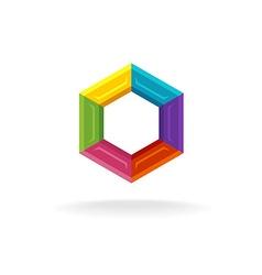 Hex logo vector image