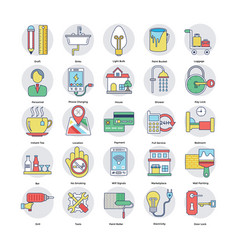 Home services icons set vector
